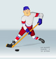ice hockey player in action vector image vector image