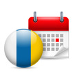 Icon of national day in canary islands vector image vector image