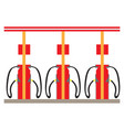 isolated gas station vector image