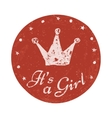 its a girl label baannouncement card vector image
