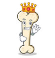 king bone character cartoon mascot vector image vector image