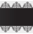 lace floral border on white background vector image vector image