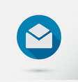 letter icon in flat style vector image vector image