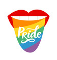 lgbt pride gay rights hand written lettering vector image