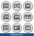 light 3d printer icons vector image vector image