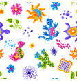 mexican pattern with cute naive art items vector image vector image