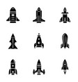 missile icons set simple style vector image
