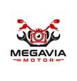 motorcycle repair logo design vector image
