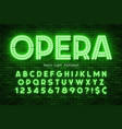 neon light 3d alphabet led extra glowing font vector image vector image