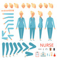 nurse animation character hospital female doctor vector image