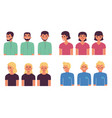 people avatars set with half vector image vector image