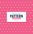 pink polka style dots background vector image vector image
