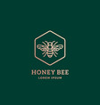 premium honey bee abstract sign symbol