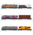railway freight transportation vector image vector image