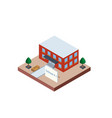 school building in isometric projection necessary vector image