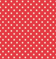 Seamless background of polka dot pattern vector image