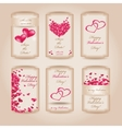 set happy valentines day tags vector image