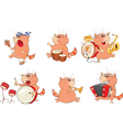 Set of Cute Cartoon Cats for you Design Cartoon vector image vector image