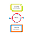 Set of quote text bubbles Quote blank template vector image