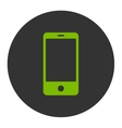 Smartphone flat eco green and gray colors round vector image vector image
