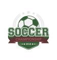 Soccer championship emblem vector image vector image