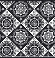 spanish lace black and white seamless pattern vector image