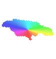 spectrum hexagon jamaica map vector image