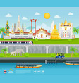thailand famous landmarks travel banner beautiful vector image vector image