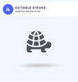 tortoise icon filled flat sign solid vector image vector image