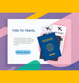 travel around world vacation booking flat vector image vector image