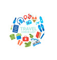 travel check list icons on white background vector image vector image