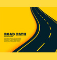 winding curve pathway road concept background vector image vector image