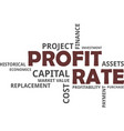 word cloud - profit rate vector image vector image