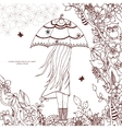 Zen Tangle a girl with an vector image vector image