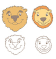 Funny cartoon bears vector image