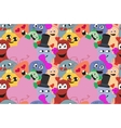Monsters in love Seamless pattern vector image