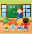 teacher teaching in classroom vector image