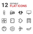 12 painting icons vector image vector image