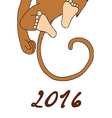2016 Happy New Year of the Chinese Calendar Monkey vector image