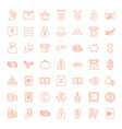 49 wealth icons vector image vector image