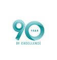 90 year excellence template design vector image vector image