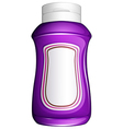 A purple generic bottle vector image vector image