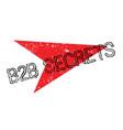b2b secrets rubber stamp vector image vector image