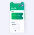 banking app ui kit prototype ui design mobile vector image vector image