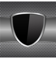 Black Shield vector image vector image