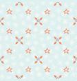 blue festive star snow flake lattice winter vector image vector image