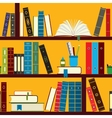 Book stand pattern vector image