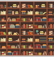 books in bookcase seamless pattern school book vector image vector image
