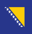 bosnia flag - bosnia and herzegovina vector image vector image
