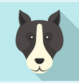 bulldog head icon flat style vector image vector image